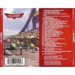 Planes Soundtrack (Various Artists, Mark Mancina) - CD Back cover
