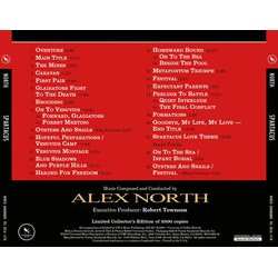 Spartacus Soundtrack (Alex North) - CD Back cover