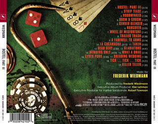 Hostel: Part III Soundtrack (Frederik Wiedmann) - CD Back cover