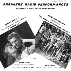 Premiere Radio Performances Soundtrack  (Hugo Friedhofer, David Raksin, Mikl�s R�zsa) - Car�tula