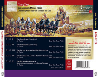 Ben-Hur Soundtrack (Mikl�s R�zsa) - CD Trasero