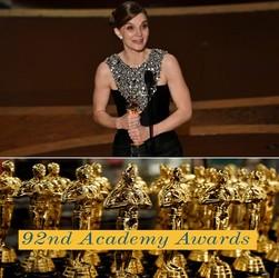 Oscars:  92ème Academy Awards gagnants annoncés !