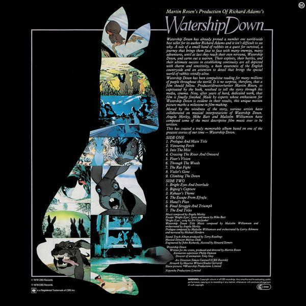 Film Music Site Watership Down Soundtrack Angela Morley