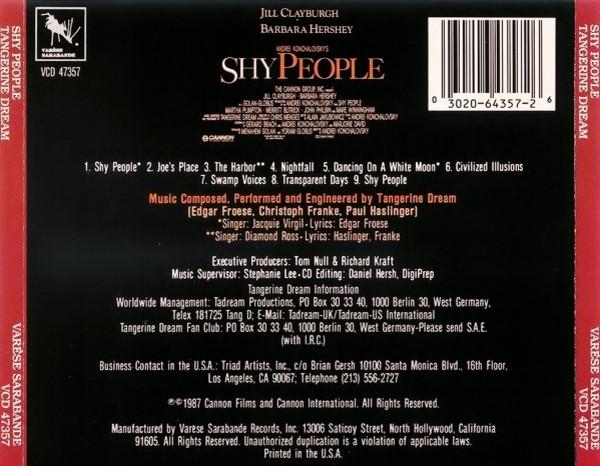 Film Music Site - Shy People Soundtrack ( Tangerine Dream