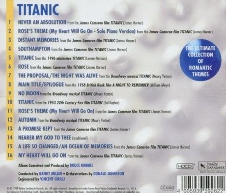 Film Music Site Titanic The Ultimate Collection Soundtrack