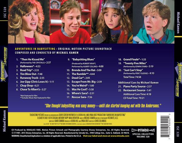 Film Music Site Espa 241 Ol Adventures In Babysitting