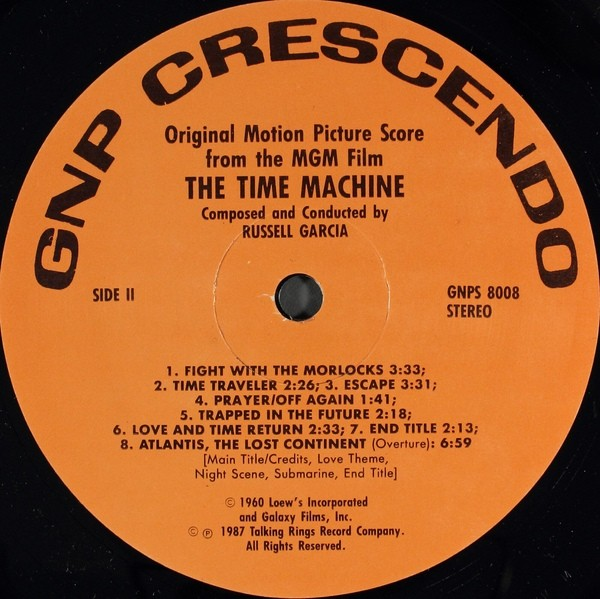 the time machine soundtrack