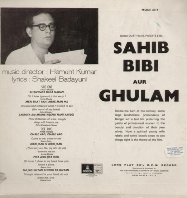 Download Sakhiya Song: Sahib Bibi Aur Ghulam Soundtrack