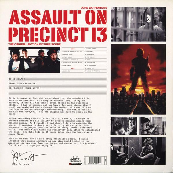 Film Music Site (Nederlands) - Assault on Precinct 13 ...