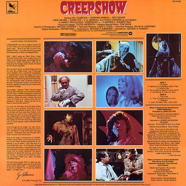 Film Music Site Creepshow Soundtrack John Harrison