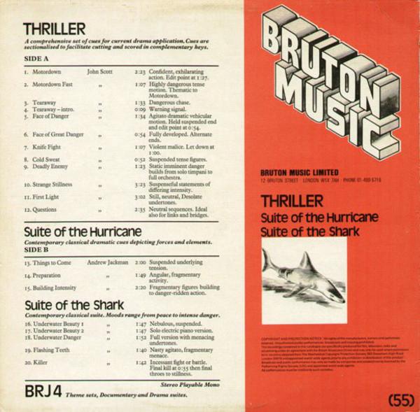 Film Music Site - Thriller / Suite Of The Hurricane / Suite Of The