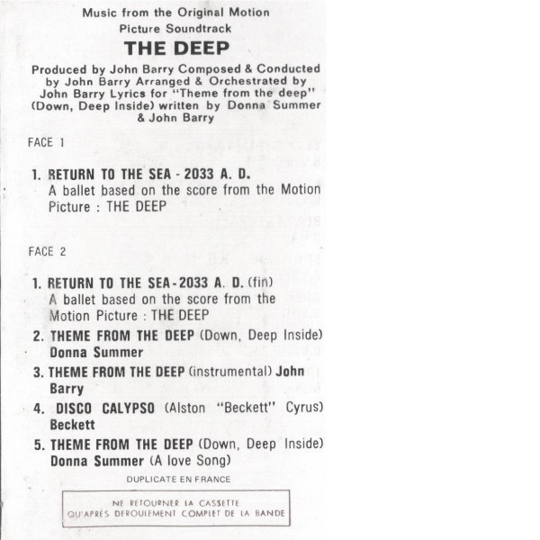 Film Music Site - The Deep Soundtrack (John Barry