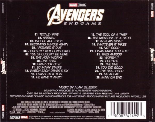 Film Music Site Avengers Endgame Soundtrack Alan Silvestri