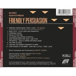 Friendly Persuasion Soundtrack (Dimitri Tiomkin) - CD Achterzijde