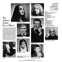 The Addams Family Bande Originale (Vic Mizzy) - CD Arrière