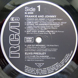 Frankie and Johnny サウンドトラック (Various Artists, Fred Karger, Elvis Presley) - CDインレイ