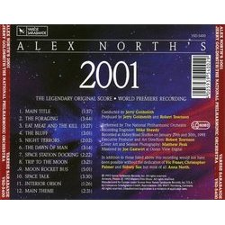 Alex North's 2001 Soundtrack (Alex North) - CD Back cover