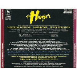 The Hunger 聲帶 (Various Artists, Denny Jaeger, Michel Rubini) - CD後蓋
