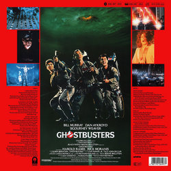 Ghostbusters Soundtrack (Various Artists, Elmer Bernstein) - CD Back cover