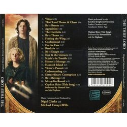 The Thief Lord Soundtrack (Nigel Clarke, Michael Csányi-Wills) - CD Back cover