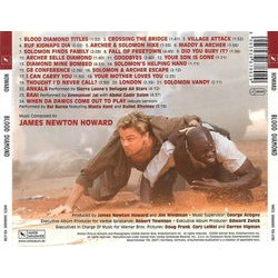 Blood Diamond Soundtrack (James Newton Howard) - CD Back cover