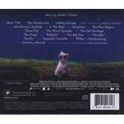 Charlotte's Web Soundtrack (Danny Elfman) - CD Back cover