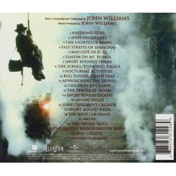 Indiana Jones and the Temple of Doom Soundtrack (John Williams) - CD Back cover