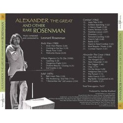 Alexander The Great and Other Rare Rosenman 声带 (Alan Bergman, Marilyn Bergman, Leonard Rosenman) - CD后盖
