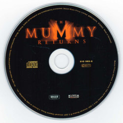 The Mummy Returns Soundtrack (Alan Silvestri) - cd-inlay