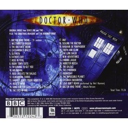 Doctor Who Soundtrack (Murray Gold) - CD Back cover