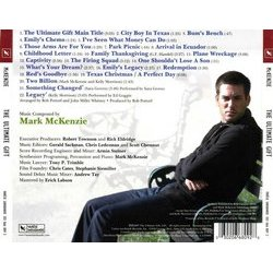 The Ultimate Gift Soundtrack (Mark McKenzie) - CD Achterzijde