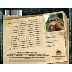 In the Name of Sherlock Holmes Soundtrack (Robert Gulya) - CD Back cover