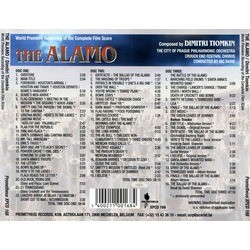 The Alamo Soundtrack (Dimitri Tiomkin) - CD Achterzijde