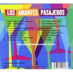 Los Amantes Pasajeros Soundtrack (Alberto Iglesias) - CD Back cover