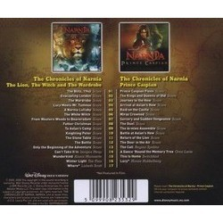 The Chronicles of Narnia: The Lion, the Witch and the Wardrobe / The Chronicles of Narnia: Prince Caspian Soundtrack (Harry Gregson-Williams) - CD Back cover