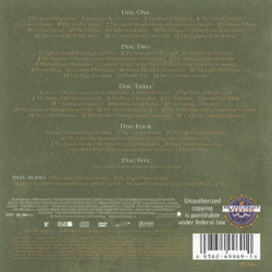 The Lord of the Rings: The Return of the King Soundtrack (Howard Shore) - CD Back cover