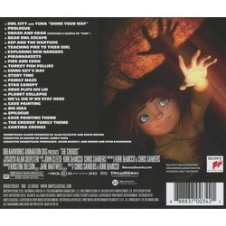 The Croods Soundtrack (Alan Silvestri) - CD Back cover