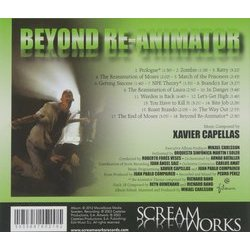 Beyond Re-Animator Soundtrack (Various Artists, Xavier Capellas) - CD Achterzijde
