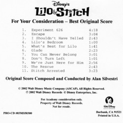 Lilo & Stitch Soundtrack (Alan Silvestri) - CD cover