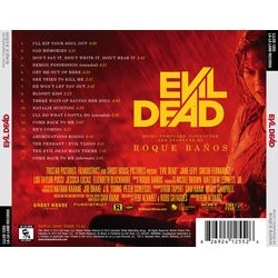 Evil Dead Soundtrack (Roque Ba�os) - CD Back cover