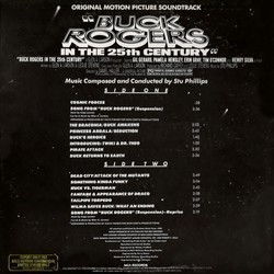 Buck Rogers in the 25th Century Soundtrack (Stu Phillips) - CD Achterzijde