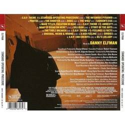 Standard Operating Procedure Soundtrack (Danny Elfman) - CD Back cover