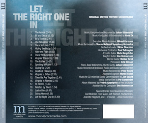 Let the Right One In Soundtrack (Johan Söderqvist) - CD Back cover