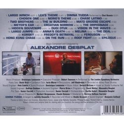 Largo Winch Soundtrack (Alexandre Desplat) - CD Trasero