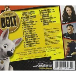 Bolt Soundtrack (John Powell) - CD Back cover