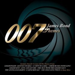 007 James Bond Themes Trilha sonora (Burt Bacharach, John Barry, Bill Conti, Michael Kamen, Michel Legrand, George Martin, Monty Norman, Eric Serra) - capa de CD