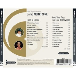 René la Canne / One, Two, Two: 122 rue de Provence Soundtrack (Ennio Morricone) - CD Back cover
