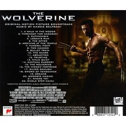 The Wolverine Soundtrack (Marco Beltrami) - CD Back cover