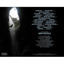 No Place On Earth Soundtrack (John Piscitello) - CD Back cover