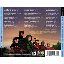 Young Justice サウンドトラック (Kristopher Carter, Michael McCuistion, Lolita Ritmanis) - CD裏表紙
